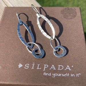 W1795 Hammered Silpada sterling earrings classic!